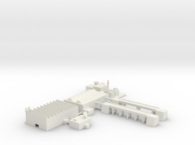 "1"" Buildings Set 2 - Industrial in White Natural Versatile Plastic"