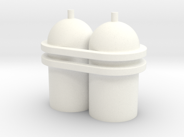 Spaceman Spiff Spaceship Tanks in White Processed Versatile Plastic
