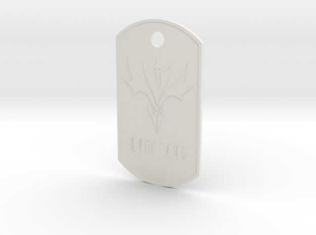 DogTags in White Natural Versatile Plastic