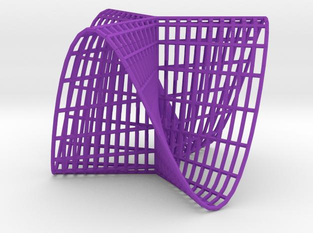 Pluecker's conoid k=3 3d printed