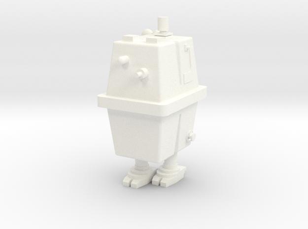 1/48 O Scale Box Robot 1 in White Processed Versatile Plastic