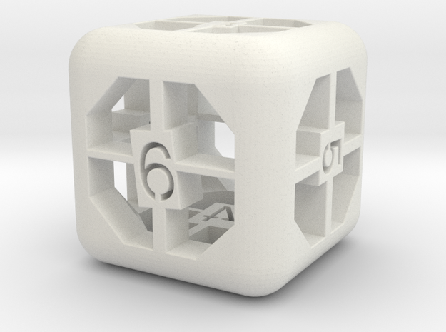simple d6 in White Strong & Flexible