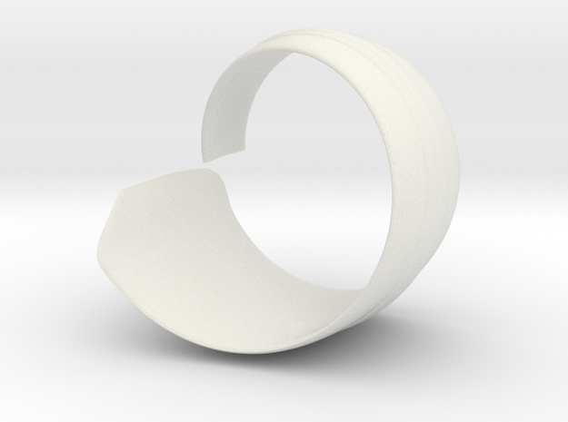 Spiral1 size10 in White Natural Versatile Plastic