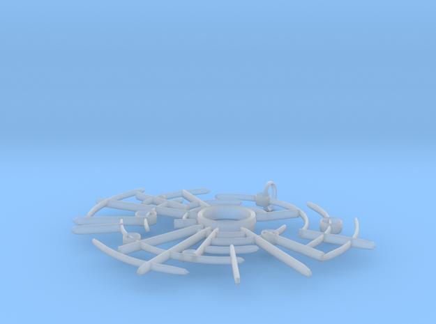 Ancient Astro Pendant 3d printed