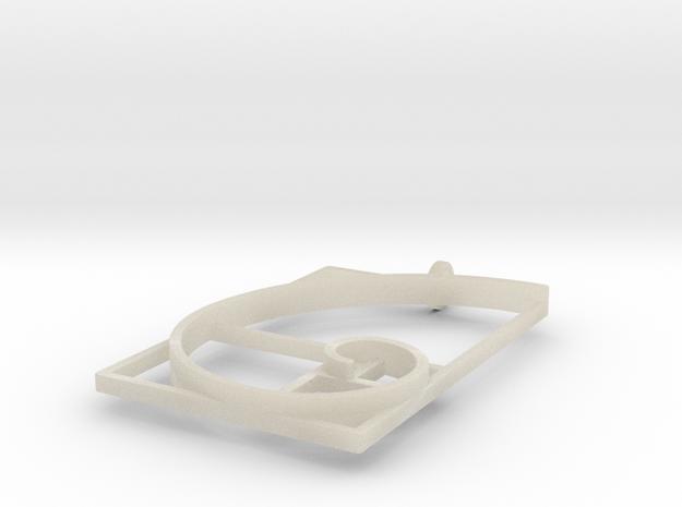 Fibonacci Spiral #1 - Pendant 3d printed