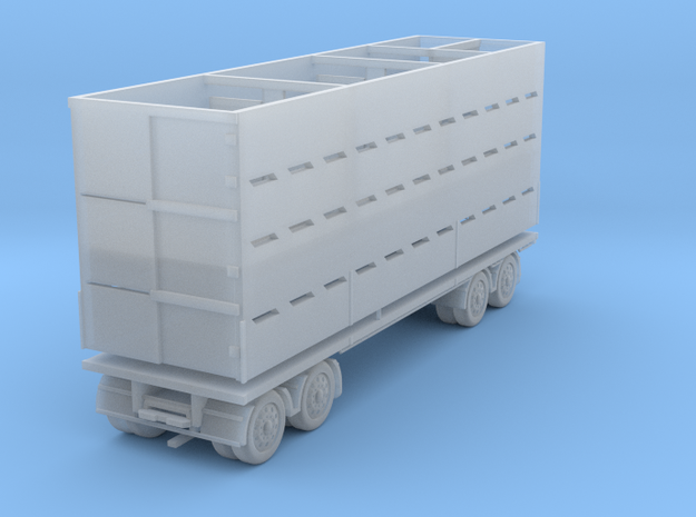 Stock Trailer 1:120 in Smooth Fine Detail Plastic
