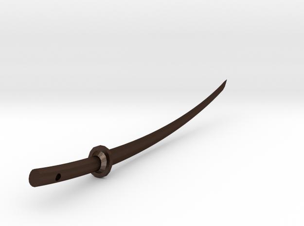 Samurai sword pendant 3d printed