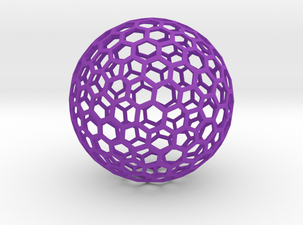 honeycomb sphere - 60 mm 3d printed