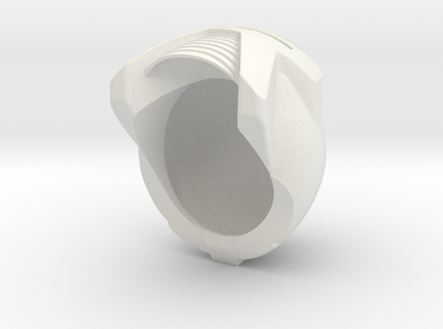 A Helmet in White Natural Versatile Plastic