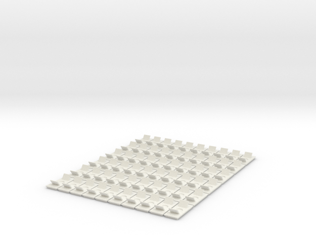 MPH FEED(60 Buttons) in White Natural Versatile Plastic