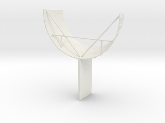 F1 3D Base 1:36 Fin in White Natural Versatile Plastic