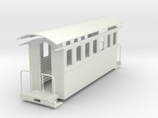 1:35 passenger car (7 window)  in White Natural Versatile Plastic