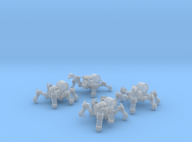 SciFi Spiderbot Unit 28mm in Smooth Fine Detail Plastic