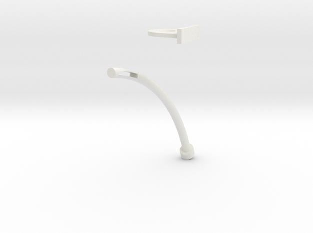 Bent Pin in White Natural Versatile Plastic