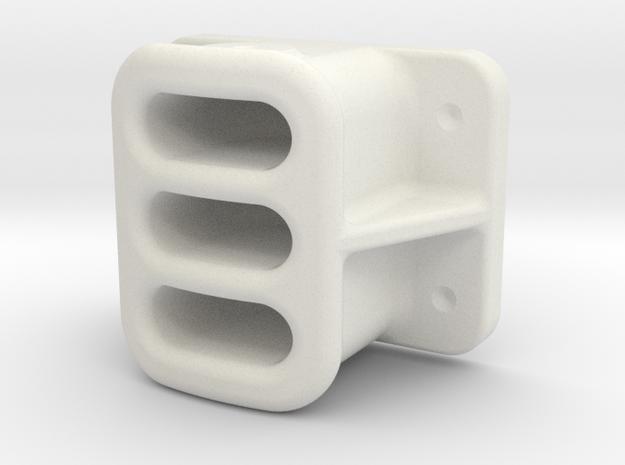"1.60"" SCALE, BALDWIN, PILOT, COUPLER POCKET in White Natural Versatile Plastic"