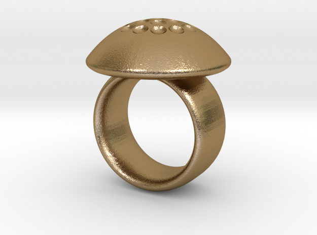Magnetic Sculpture Ring Size 7 3d printed