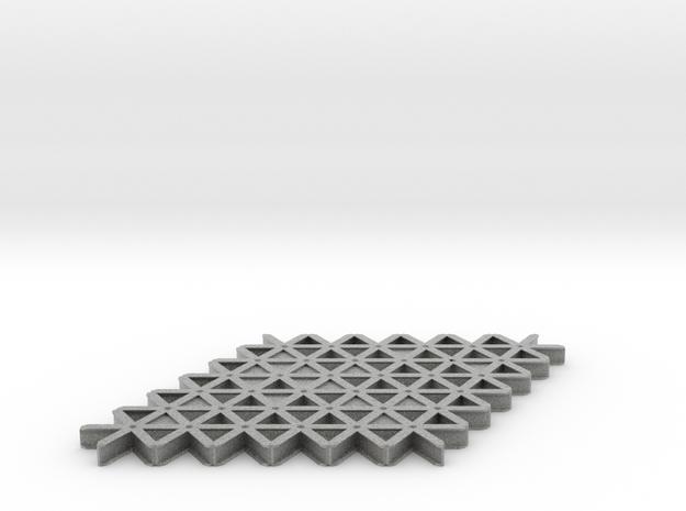 isogrid flange 4mm hi 3d printed