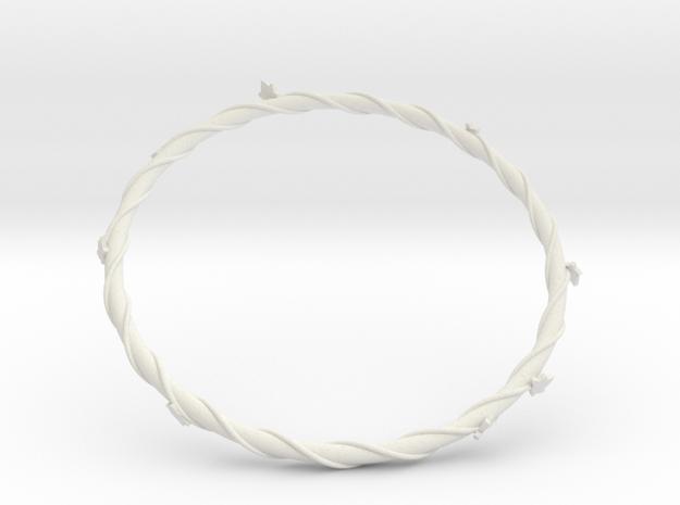 Leaf Bracelet in White Strong & Flexible