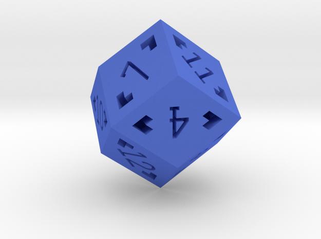 Rhombic 12 Sided Die - Large 3d printed