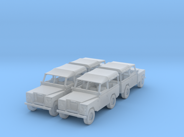 4 Landrover 1:120 in Smooth Fine Detail Plastic