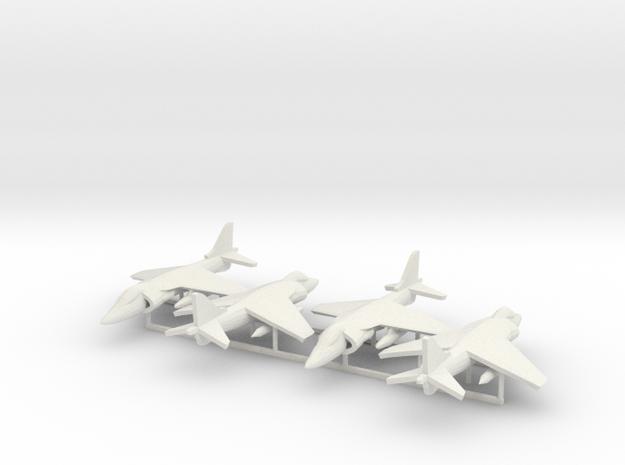 Harrier AV-8B 4x in White Natural Versatile Plastic