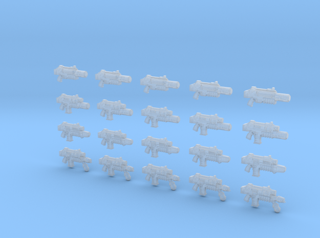 20 28mm Gun Variety Pack, Melting Combination Plas 3d printed
