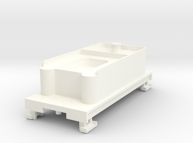 HOn30 Tender without trucks in White Processed Versatile Plastic