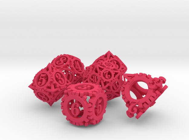 Steampunk Gear Dice Set noD00 3d printed