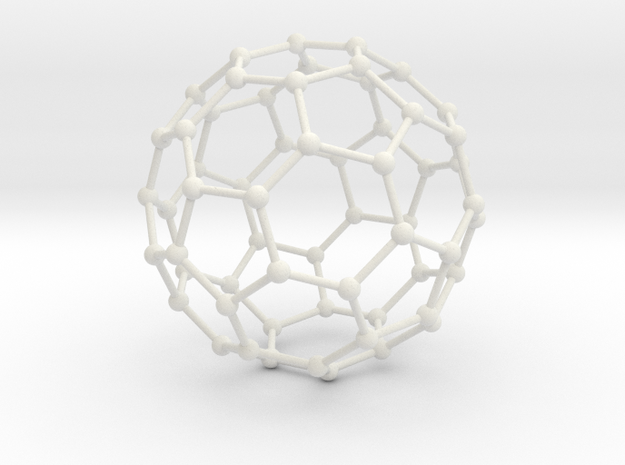 Bucky Ball Wire Frame in White Strong & Flexible