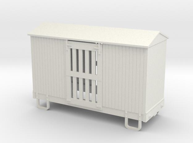 55n9 13ft 4 wheeled ventilated box car - peaked ro 3d printed