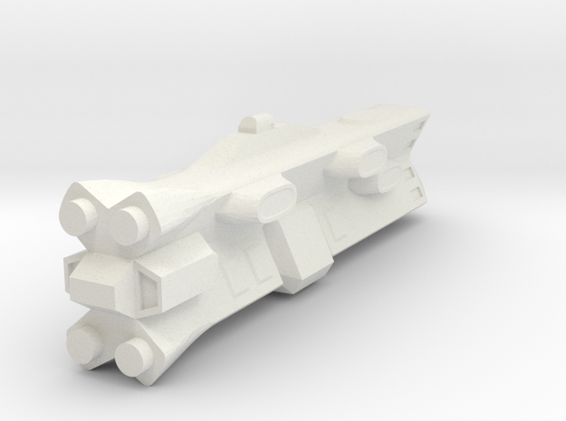 Terran Battleship in White Natural Versatile Plastic