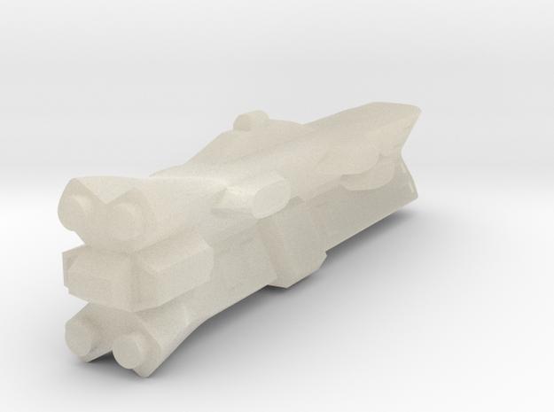 Terran Battleship in White Acrylic