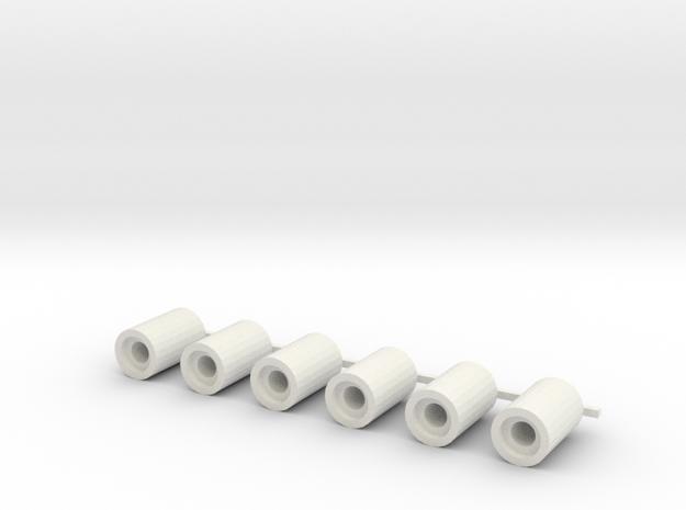 rioolbuis kraagloos 1, schaal 1:87 in White Natural Versatile Plastic