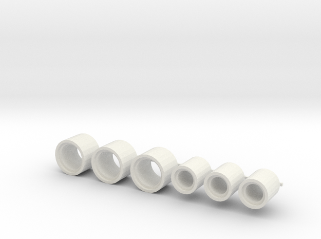 rioolbuis kraagloos 2, schaal 1:87 in White Natural Versatile Plastic
