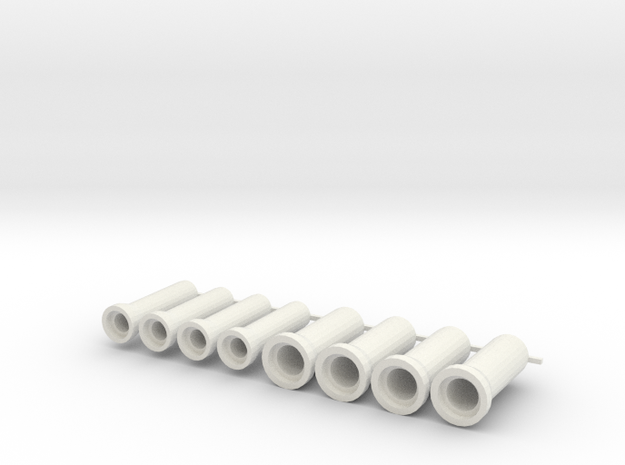 Sewer pipe, rioolbuis 400,600,800 mm, schaal 1:87 in White Natural Versatile Plastic