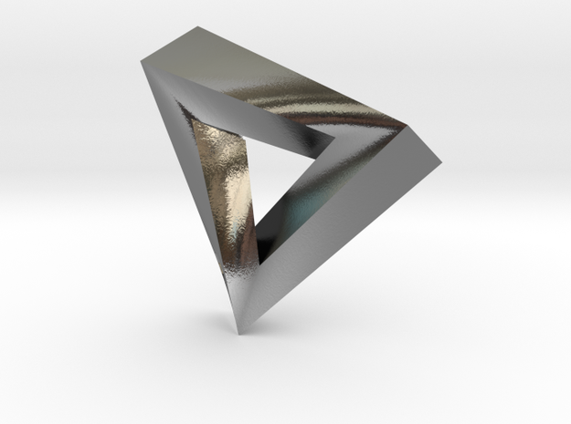 Impossible Pendant! 3d printed Polished Silver
