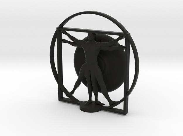 Cyborg Vitruvian man 3d printed