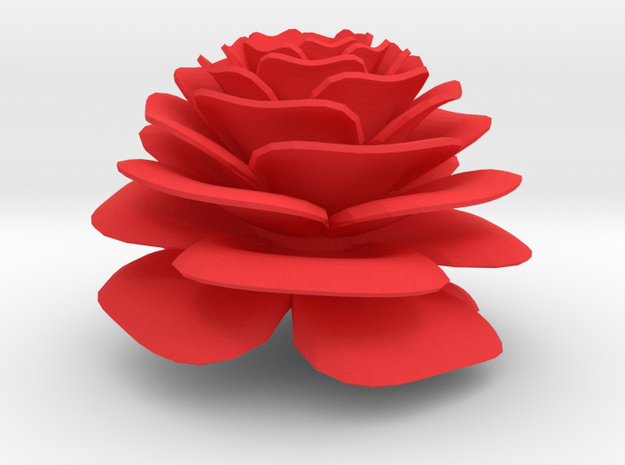 Nylander Rose - 2 Inch Diameter, Solid in Red Strong & Flexible Polished
