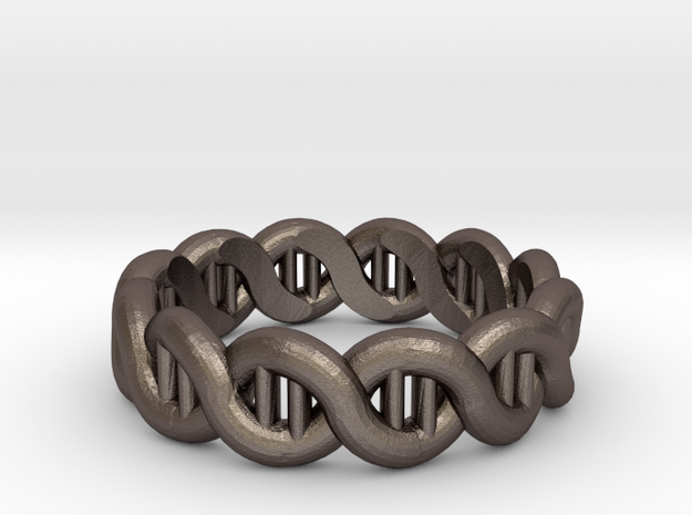 DNA sz18 in Polished Bronzed Silver Steel