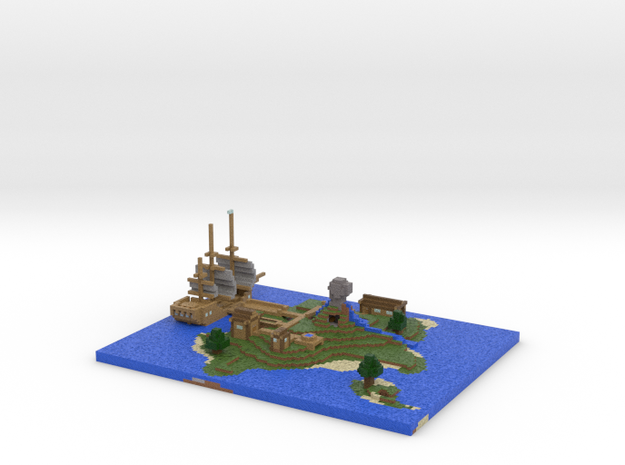 Pirate Island via Mineways! in Full Color Sandstone