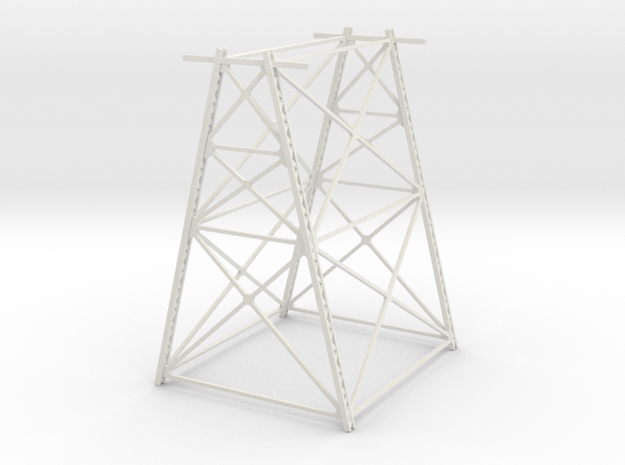 Trestle - 60foot - Zscale in White Natural Versatile Plastic