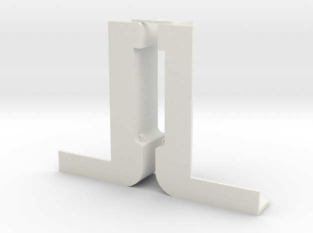Schut sluis 1 schaal 1:87 in White Natural Versatile Plastic