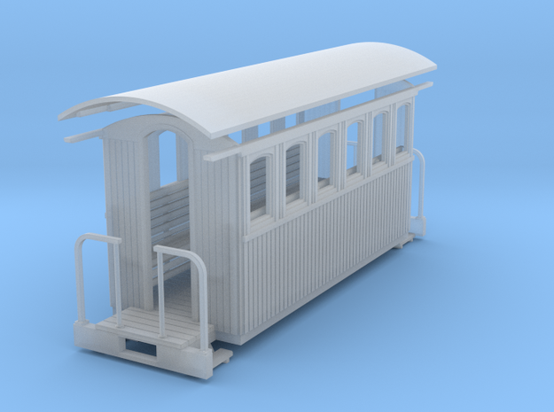 HOn30 small short passenger car 3d printed