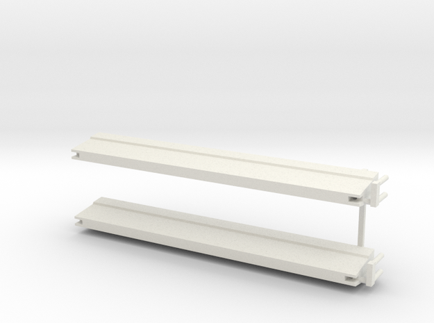 2 st barrier schaal 1:87 in White Natural Versatile Plastic