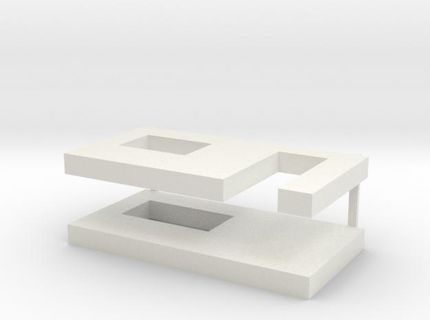 muren beton schaal 1:87 in White Natural Versatile Plastic
