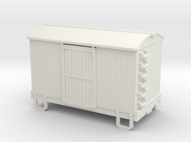 HOn30 13ft 4w box car round roof 3d printed