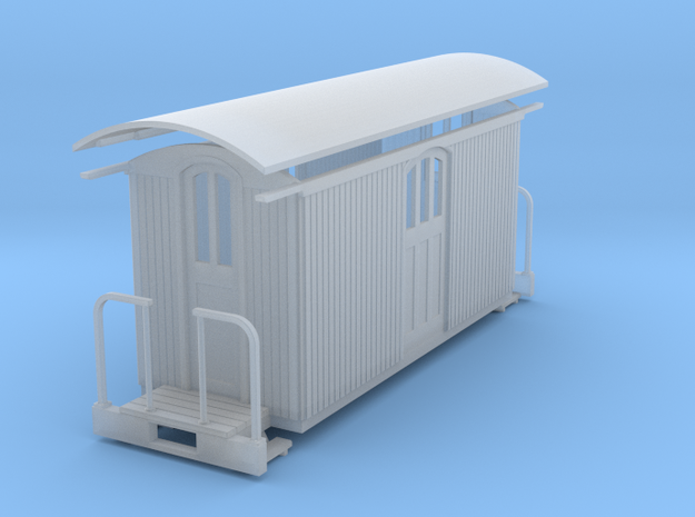HOn30 Small baggage car in Frosted Ultra Detail