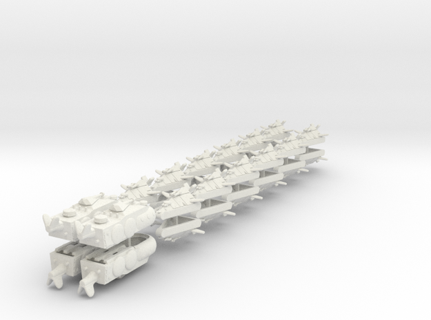 UK Ground Support Fleet (28 ships) 6mm 3d printed