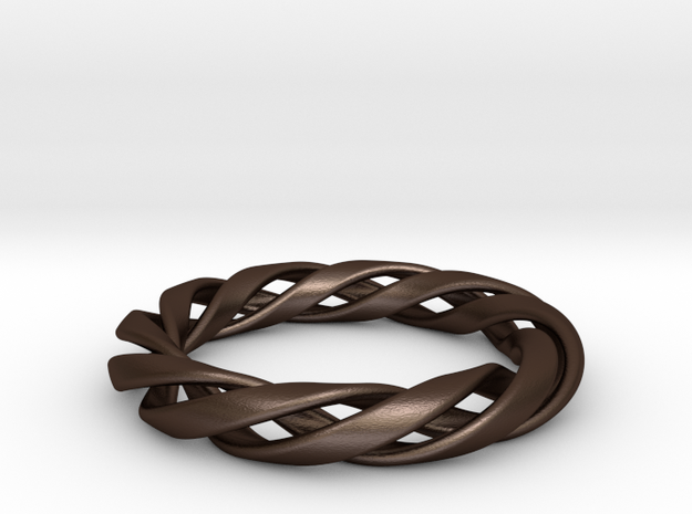 Toroid Spiral (3-strand, 1-piece, 2.0mm thickness) 3d printed
