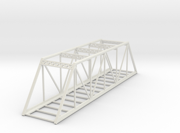 Straight Bridge - Z scale in White Strong & Flexible